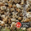 【送料無料】白川さび砂利 3分 10kg | 約3-12mm