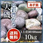 玉砂利 アジアン 和風 庭園大磯 1.5寸10kg【送料無料】【あす楽】
