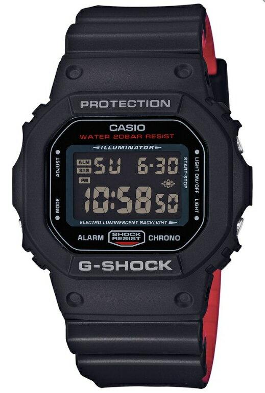 【あす楽対応商品】カシオG-SHOCK海外モデル ブラック&レッドシリーズ DW-5600HR-1