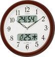 【アウトレット品】シチズン電波掛時計「ネムリーナカレンダーM01」4FYA01-097-06