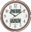 【訳あり,アウトレット品】 シチズン電波掛時計「ネムリーナカレンダーリブ」 4FYA05-097-06