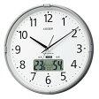 【訳あり,アウトレット品】シチズン電波掛時計 インフォームナビS 4FY621-097-19