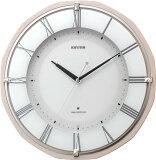 お一人様1個限り【特価品】リズム電波掛時計「リバライトRW496」8MY496SR13