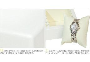 腕時計収納ケース2本収納木製高級ウォッチボックスケースIG-ZEROW632ホワイトパール2タイプ(窓付き・窓無し)