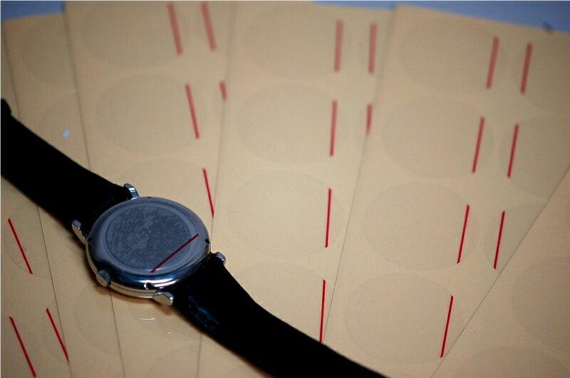 【WATCHNAVI 掲載!】 腕時計用 裏ブタ保護シール 18~45mm 各サイズ10枚 DE-9031【消耗品/備品/保護/キズ防止】【RCP】10P02Aug14