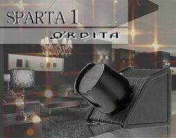 【日本限定モデル】オービタ【ORBITA】スパルタ1オープンリチウム黒牛革クロコ型押し【腕時計/ワインダー/時計収納/調整/時計巻き/自動巻き/ワインディングマシーン】