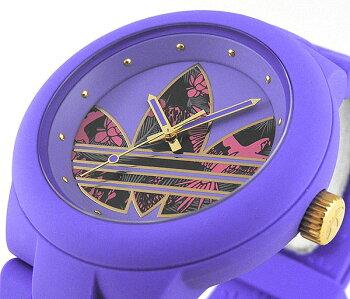 adidasアディダスABERDEENアバディーンADH3016海外モデルメンズレディース腕時計男女兼用ユニセックスシリコンバンドクオーツアナログ紫パープル花柄