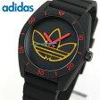 ★送料無料 adidas アディダス SANTIAGO サンティアゴ ADH3167 海外モデル メンズ レディース 腕時計 シリコン バンド クオーツ アナログ ブラック