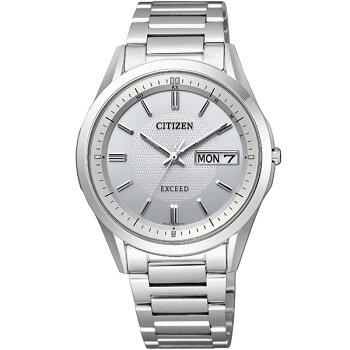CITIZENシチズンEXCEEDエクシードAT6030-60A国内正規品レディース腕時計ペアチタンバンドエコドライブ電波アナログ銀シルバー