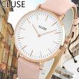 ★送料無料 CLUSE クルース La Boheme ラ・ボエーム CL18014 38mm 海外モデル レディース 腕時計 ウォッチ 革バンド レザー クオーツ アナログ 白 ホワイト ピンク