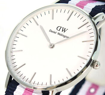 ダニエルウェリントンDanielWellingtonダニエルウェリントン36mmメンズレディース腕時計男女兼用ナイロンバンドネイビーピンク銀シルバーアナログクオーツ0605DW海外モデル