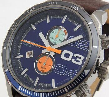 DIESELディーゼルDoubleDown48ダブルダウン48DZ4350海外モデルメンズ男性用腕時計ウォッチクロノグラフアナログ青ブルー