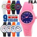 【送料無料】FILAフィラ腕時計キッズ子供用ポリウレタンクオーツアナログ黒ブラック白ホワイト赤レッド青ネイビーピンク選べる9種類海外モデル