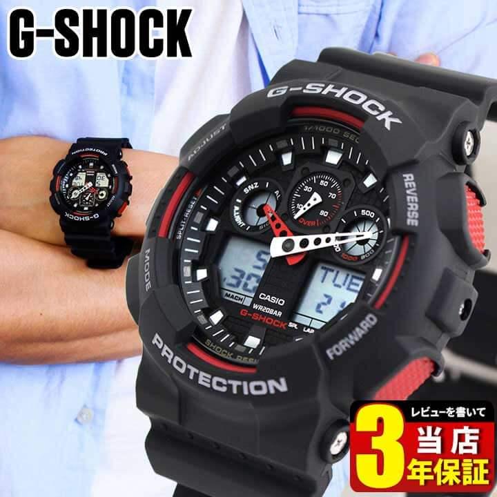 腕時計, メンズ腕時計 CASIO G-SHOCK G GA-100-1A4 ga100