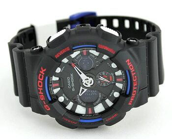 商品到着後レビューを書いて3年保証CASIOカシオG-SHOCKジーショックGA-120TR-1A海外モデルメンズ腕時計ウォッチクオーツアナログデジタル黒ブラックトリコロール