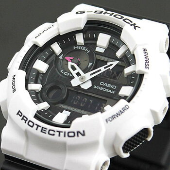 CASIOカシオG-SHOCKジーショックGAX-100B-7A海外モデルメンズ腕時計ウォッチクオーツアナログデジタル樹脂黒ブラック白ホワイト