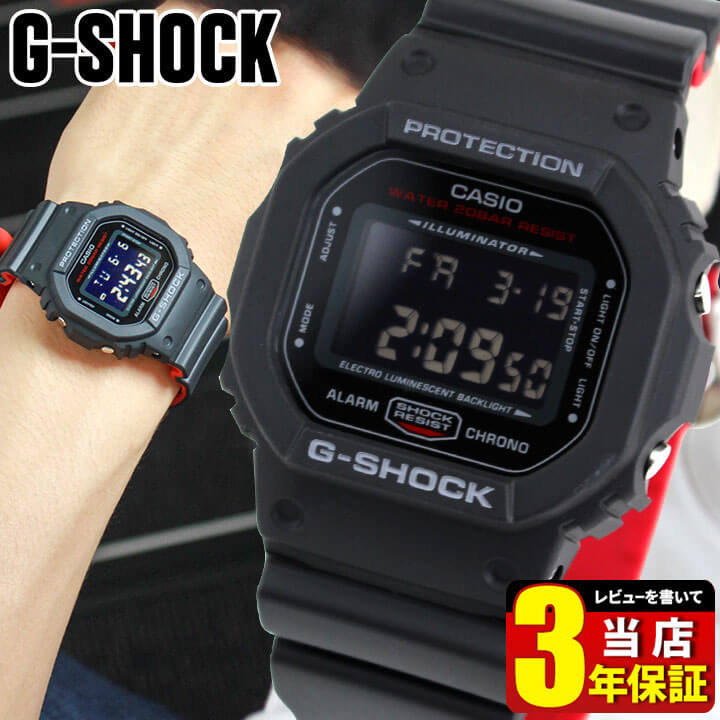 腕時計, メンズ腕時計 CASIO G-SHOCK G ORIGIN Black Red Series DW-5600HR-1