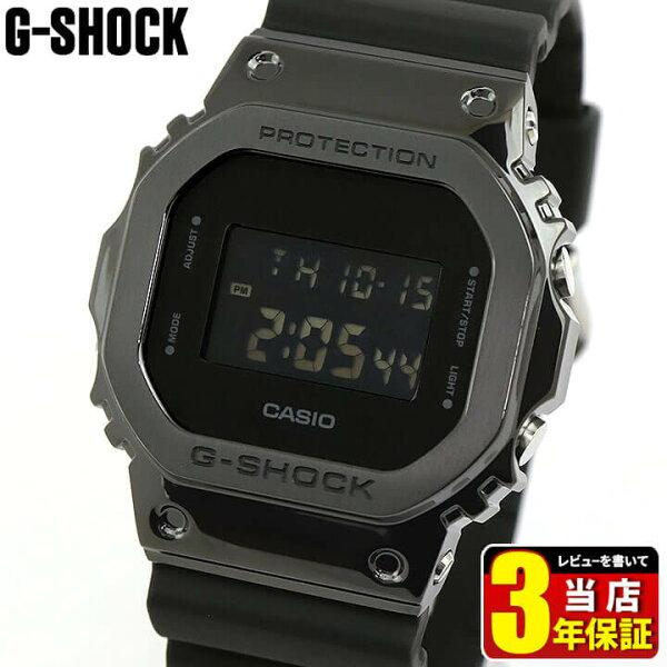 CASIOカシオG-SHOCKGショックジーショック反転液晶多機能メンズ腕時計時計ステンレスウレタンデジタル四角黒オールブラック