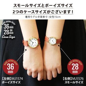 MarcJacobsマークジェイコブスRILEYライリー選べるレディース腕時計革ベルトレザー黒ブラック白ホワイト青ネイビー茶ブラウン誕生日プレゼント女性ギフト海外モデル