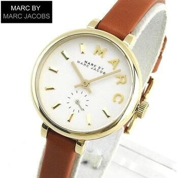MARCBYMARCJACOBSマークバイマークジェイコブスSALLYサリーMBM1351海外モデルレディース女性用腕時計ウォッチ革バンドレザークオーツアナログ茶ブラウン