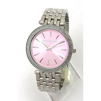 MICHAELKORSマイケルコースMK3352海外モデルレディース女性用腕時計新品時計ウォッチメタルバンドクオーツアナログピンク銀シルバー