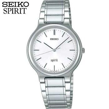 SEIKOセイコーSPIRITスピリットSCDP003国内正規品メンズ男性用腕時計ウォッチメタルバンドクオーツアナログ白ホワイト