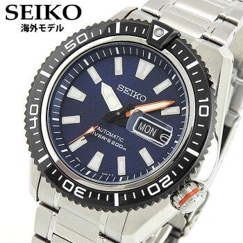 SEIKOセイコーPROSPEXプロスペックスSRP493K1国内正規品メンズ男性用腕時計ウォッチメタルバンド機械式メカニカル自動巻きアナログ黒ブラック銀シルバー