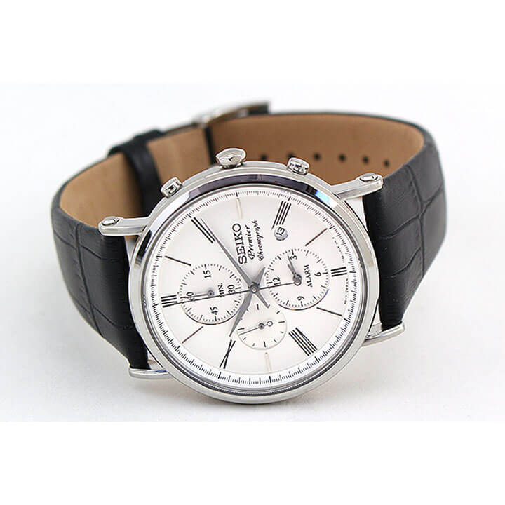mens 男性用 セイコー ウォッチ 腕時計 SNAB71P1 パイロット SEIKO 【送料無料】 うでどけい アラーム レザー 革ベルト メンズ クロノグラフ