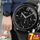 SEIKOセイコーagnesb.アニエス・ベーオムクリスマス限定モデルカーフメンズ腕時計黒ブラック誕生日プレゼント男性ギフトFCRT710国内正規品商品到着後レビューを書いて7年保証