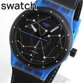 ★送料無料 SWATCH スウォッチ SUTS401 SISTEM BLUE システム・ブルー レディース メンズ ユニセックス 腕時計 自動巻き ブラック ブルー 黒 青