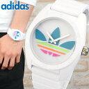 スーパーセール アディダス adidas オリジナルス originals サンティアゴ SANTIAGO メンズ レディース 白 ピンク 腕時計 時計 カジュアル ウォッチ ホワイト マルチカラー 海外モデル ADH2916 誕生日プレゼント 女性 男性 クリスマス ギフト 男性 女性 ギフト