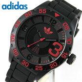 アディダス adidas ニューバーグ NEWBURGH メンズ 黒 赤 腕時計 時計 防水 カジュアル スポーツ ブランド ADH2965 海外モデル 日付 カレンダー ブラック レッド 誕生日プレゼント 男性 ギフト