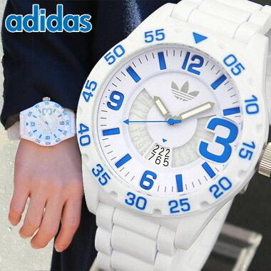 アディダスadidasOriginalsオリジナルスNEWBURGHニューバーグメンズ男性用腕時計時計ウォッチ新品シリコンラバーバンドADH3012海外モデルホワイト白ブルー青
