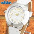 ★送料無料 adidas アディダス ADH3055 SUPERSTAR スーパースター 海外モデル メンズ レディース 腕時計 革バンド レザー クオーツ アナログ 白 ホワイト 金 ゴールド
