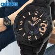 ★送料無料adidas アディダス NEWBURGH ニューバーグ ADH3082 メンズ 腕時計 ウォッチ カジュアル 黒 ブラック 金 ピンクゴールド 誕生日プレゼント ギフト