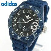 adidas アディダス originals オリジナルス NEWBURGH ニューバーグ メンズ 腕時計 ウォッチ 防水 カジュアル 黒 ブラック 青 ブルー シリコン バンド ADH3141 誕生日プレゼント ギフト