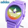 ★送料無料 adidas アディダス ADH9072 サンティアゴ 海外モデル メンズ レディース 腕時計 ユニセックス シリコン バンド クオーツ アナログ 紫 パープル