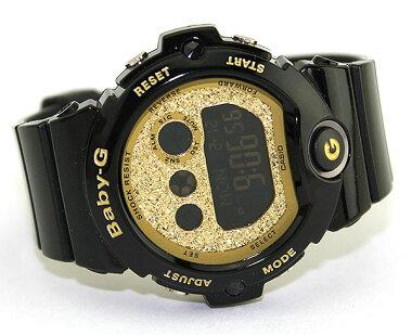 商品到着後レビューを書いて3年保証CASIOカシオBaby-GベビーGDialSeriesグリッター・ダイアル・シリーズBG-6900SG-1黒ブラックゴールドレディース腕時計新品女性用ウォッチ海外モデル