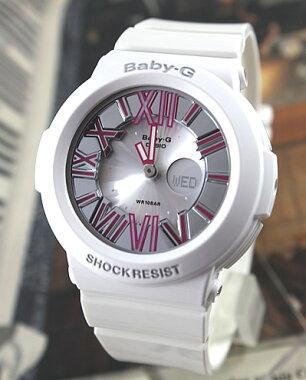 CASIOカシオBaby-GBABYGベビーGレディース腕時計新品時計BGA-160-7B2ホワイト×ピンク海外モデルNeonDialSeriesネオンダイアルシリーズかわいい【対応】【_土曜営業】入学祝い【P27Mar15】