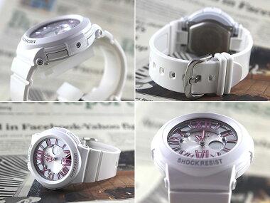 商品到着後レビューを書いて3年保証CASIOカシオBaby-GBABYGベビーGレディース腕時計時計BGA-160-7B2ホワイト×ピンク海外モデルNeonDialSeriesネオンダイアルシリーズ白ホワイトかわいい夏物誕生日ギフト