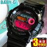 商品到着後レビューを書いて3年保証 CASIO カシオ Baby-G ベビーG ベイビージー レディース 腕時計時計 BGD-140-1B 海外モデル 黒 ブラック ピンク【BABYG】スポーツ 誕生日プレゼント ギフト
