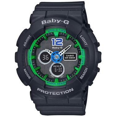 CASIOカシオBaby-GベビーGBigCaseSeriesBA-120-1BJFレディースアナログ黒ブラック国内正規品