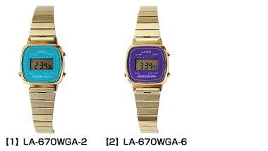 CASIOカシオLA-670WGA-6LA-670WGA-2海外モデルレディース女性用腕時計新品時計ウォッチクオーツデジタル