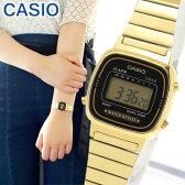 メール便で送料無料 BOXなし CASIO チープカシオ チプカシ スタンダード LA-670WGA-1 LA670WGA-1 海外モデル レディース 腕時計時計クオーツ デジタル ゴールド×ブラック 金 黒 誕生日プレゼント ギフト