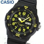 【3ヶ月保証】【専用BOXなし】CASIO チープカシオ チプカシ スタンダード MRW-200H-9B 海外モデル メンズ 腕時計 時計 クオーツ アナログ ブラック イエロー 黄色 黒 誕生日プレゼント ギフト【あす楽対応】