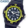 【3ヶ月保証】【専用BOXなし】CASIO チープカシオ チプカシ スタンダード MRW-200HC-2B 海外モデル メンズ 腕時計 時計 クオーツ アナログ ネイビー イエロー 黄色 紺 誕生日 ギフト