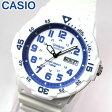 【3ヶ月保証】専用BOXなし CASIO チープカシオ チプカシ スタンダード MRW-200HC-7B2 海外モデル メンズ 腕時計 時計 クオーツ アナログ ホワイト ブルー 白 青 誕生日プレゼント ギフト