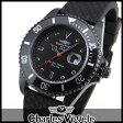 ★送料無料 Charles Vogele シャルルホーゲル ダイバーズデザイン CV-9085-0 メンズ 腕時計 ウォッチ 黒 ブラック 誕生日 ギフト