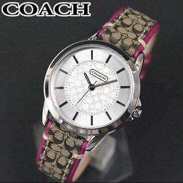 【送料無料】COACH コーチ 時計 14501543 New Classic Signature ニュー クラシックシグネチャー レディース 腕時計 レザーバンド ピンク 誕生日プレゼント 女性 ギフト