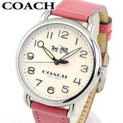 0b350719a15f 【送料無料】COACH コーチ DELANCEY デランシー 14502717 レディース 腕時計 革ベルト レザー シルバー ピンク  誕生日プレゼント 女性 ホワイトデー ギフト 海外モデル